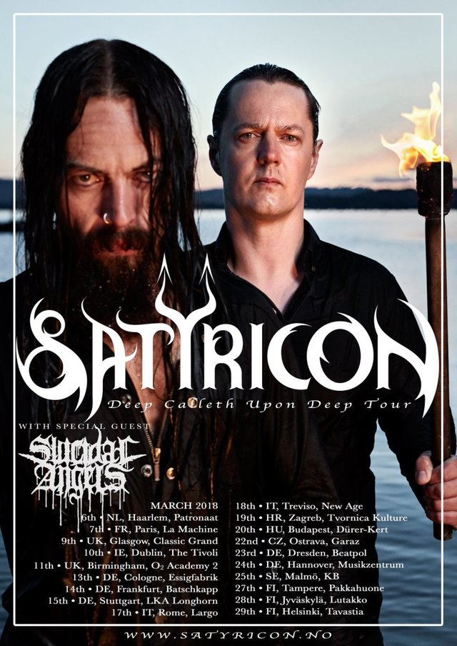 satyricon tour 2018