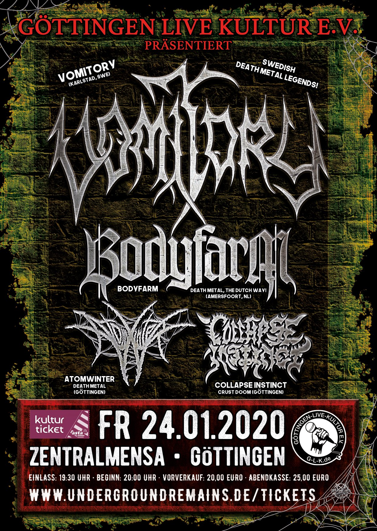 2019 Vomitory Bodyfarm Atomwinter Collapse Instinct GÖ