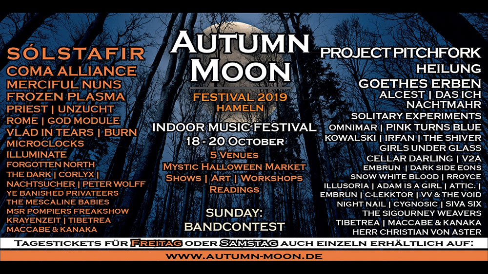 autumn moon festival flyer 2019 bands