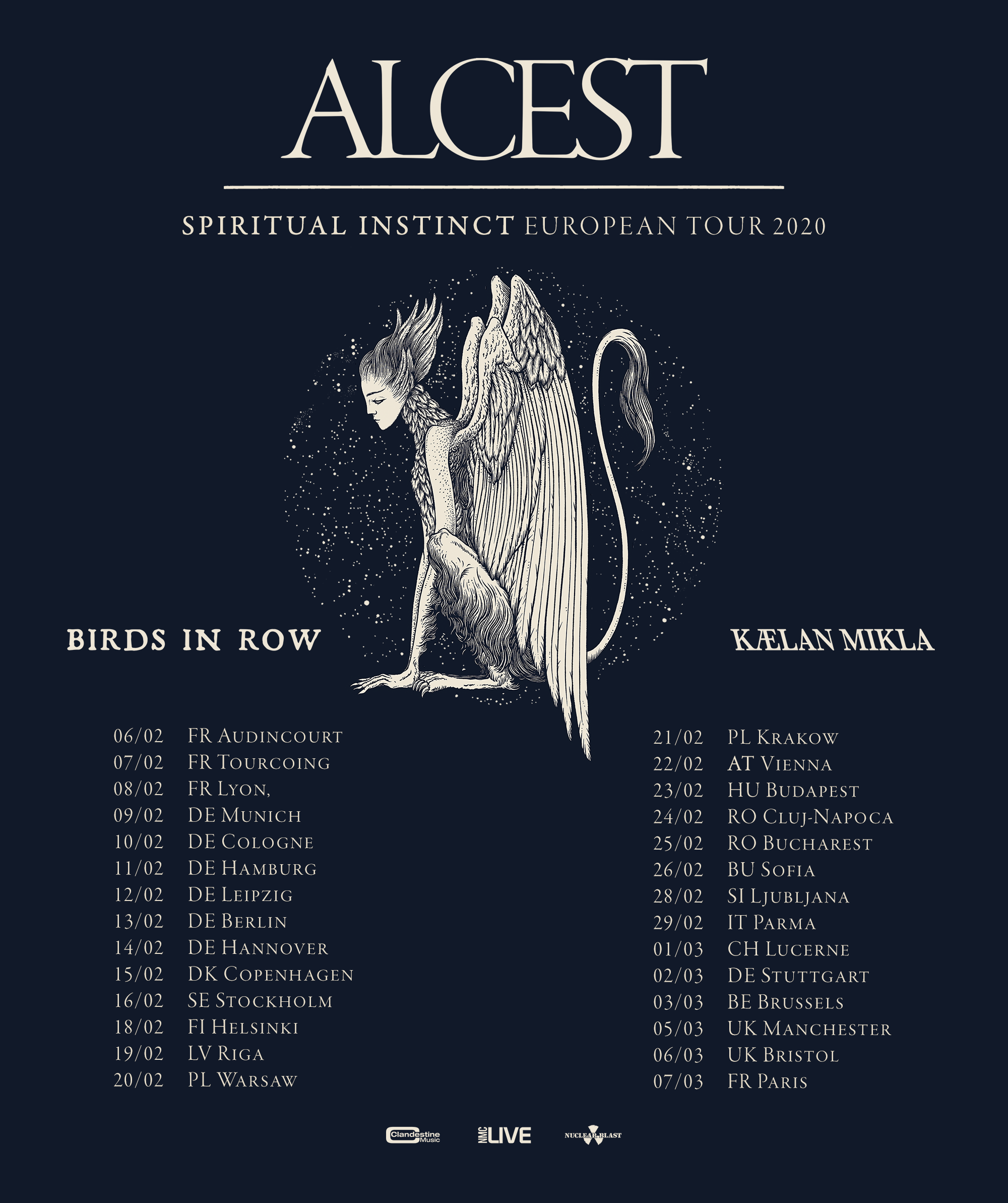 Alcest tour 2020 Tribulation