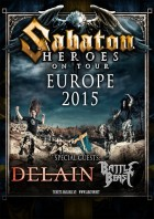 Sabaton, Delain, Battle Beast - Hamburg, Alsterdorfer Sporthalle (14.02.15)
