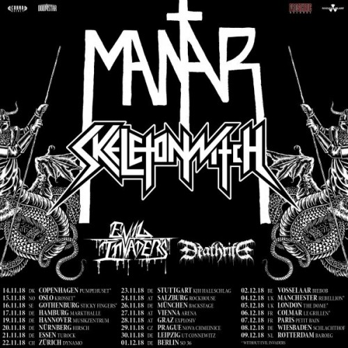 Mantar, Skeletonwitch, Evil Invaders & Deathrite